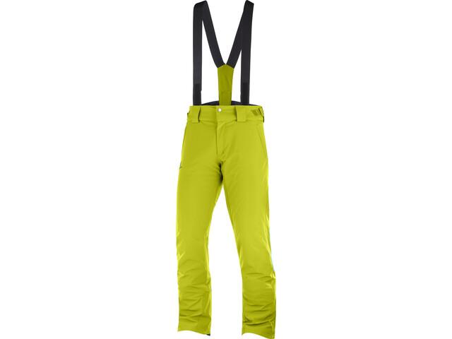 Salomon Stormseason Pantalones Hombre, citronell